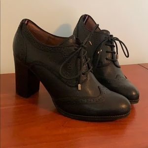 Tommy Hilfiger Leather Oxford Booties